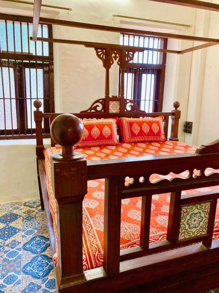 Villa Rashmi - A Heritage Gem in Mumbai   Bedroom decorated in south indian theme   TheKeybunch decor blog
