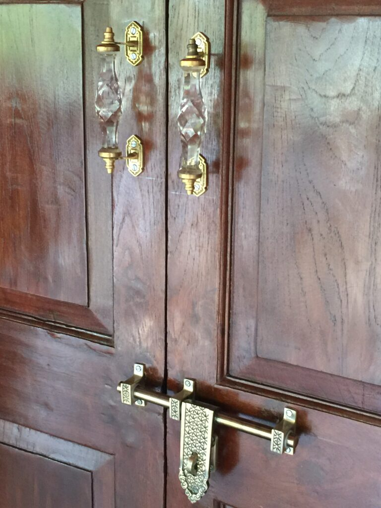 Villa Rashmi - A Heritage Gem in Mumbai   Original old features on the doors   TheKeybunch decor blog