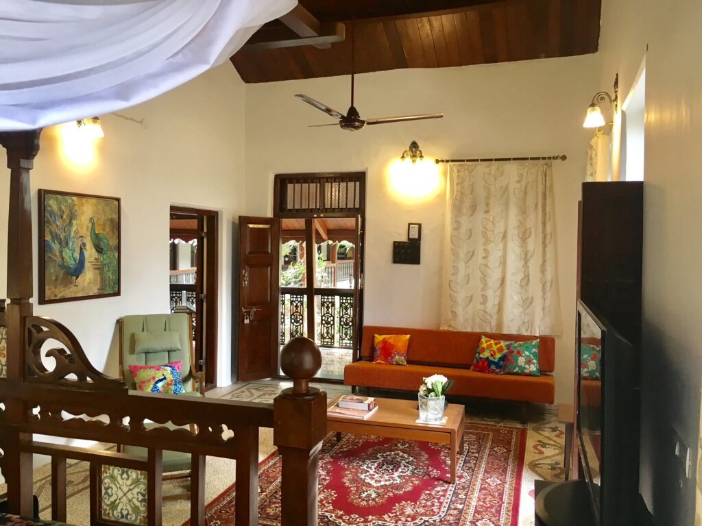 Villa Rashmi - A Heritage Gem in Mumbai   Inside view of the private living area in the villa   TheKeybunch decor blog