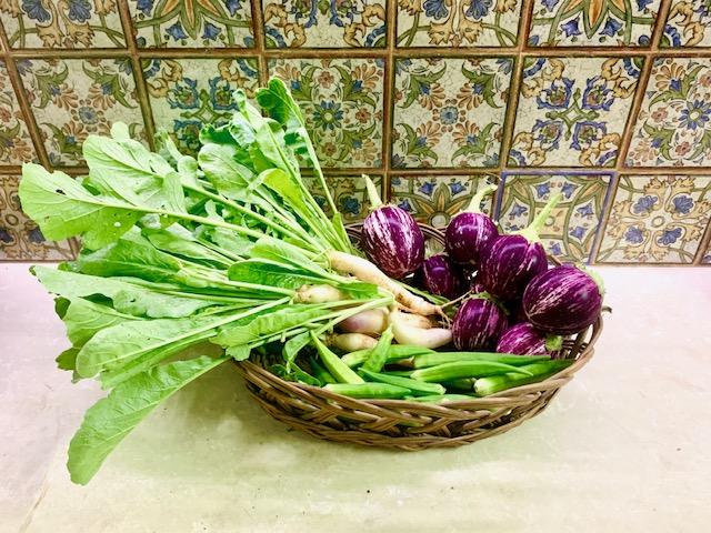 Villa Rashmi - A Heritage Gem in Mumbai   Fresh and healthy vegetables from the garden   TheKeybunch decor blog