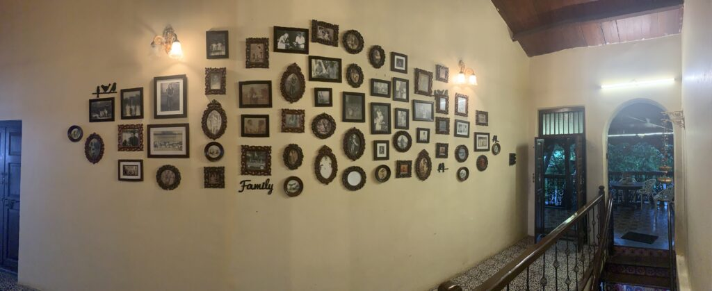 Villa Rashmi - A Heritage Gem in Mumbai   Wall gallery at the private residence entrance   TheKeybunch decor blog