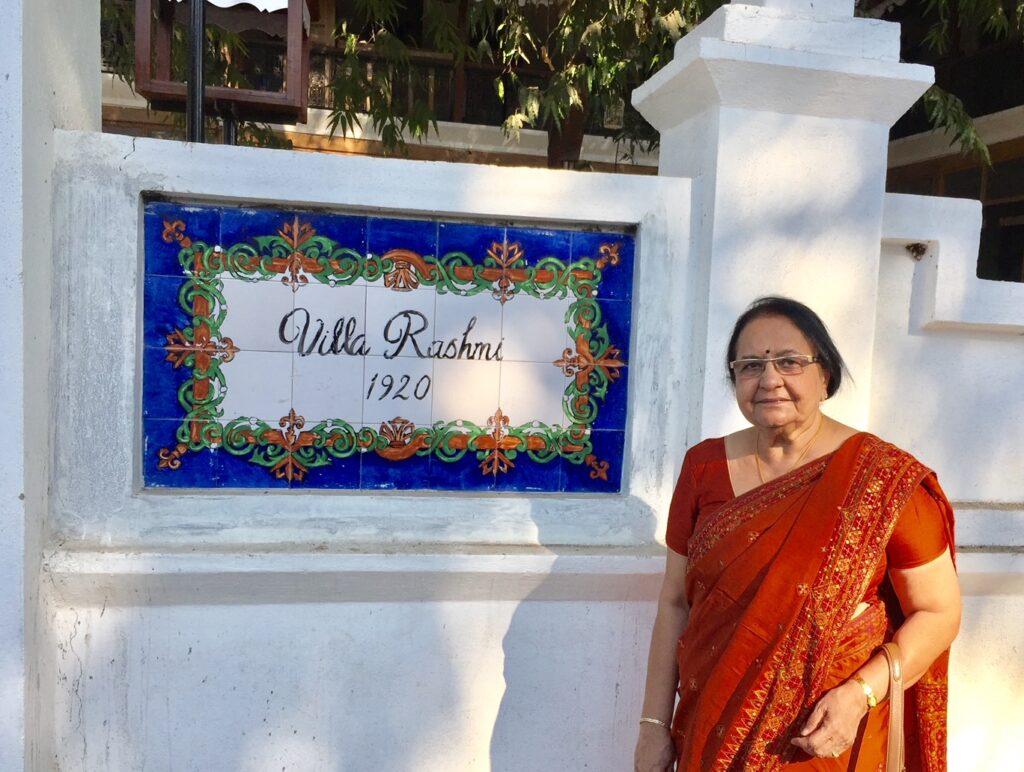 Villa Rashmi - A Heritage Gem in Mumbai   Rashmi the owner of the old heritage villa in Mumbai   TheKeybunch decor blog