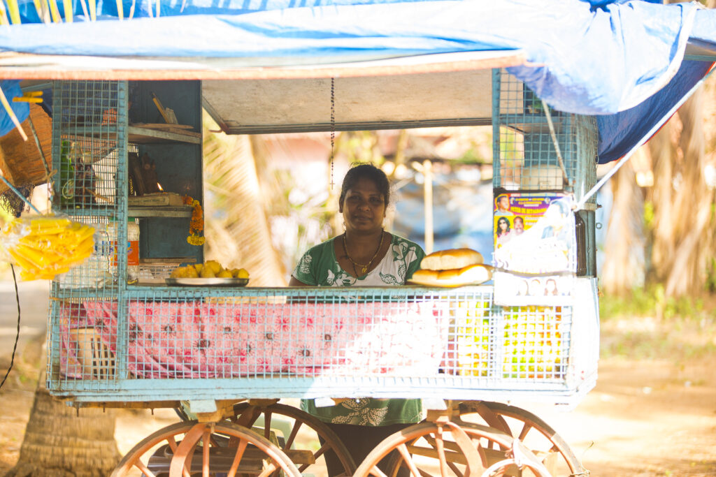 Betalbatim in Goa, India   Lucy, who sells delicious steaks every evening near her home   TheKeybunch decor blog