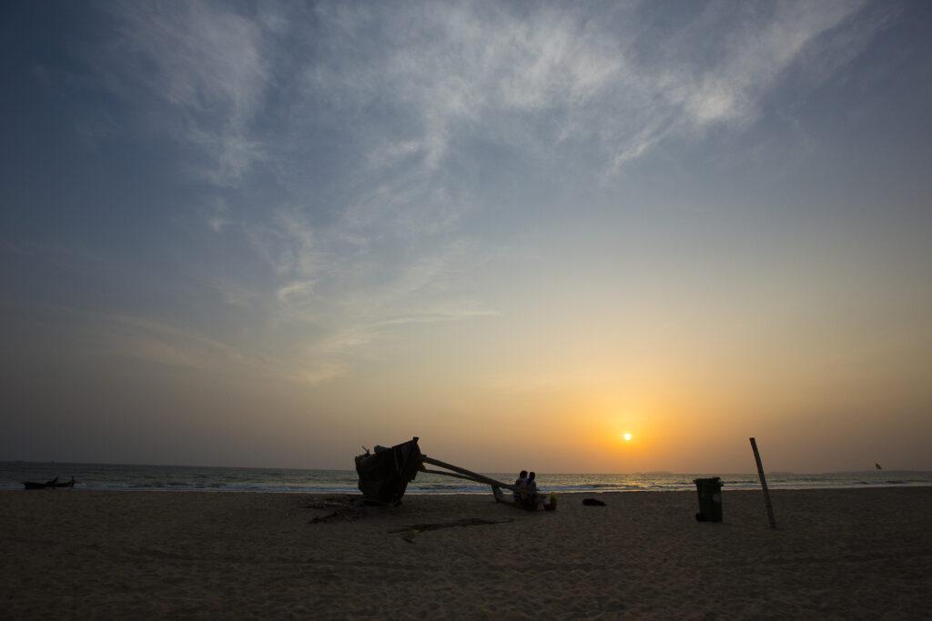 Betalbatim beach in Goa, India   The beautiful sunset scenery of beach   TheKeybunch decor blog