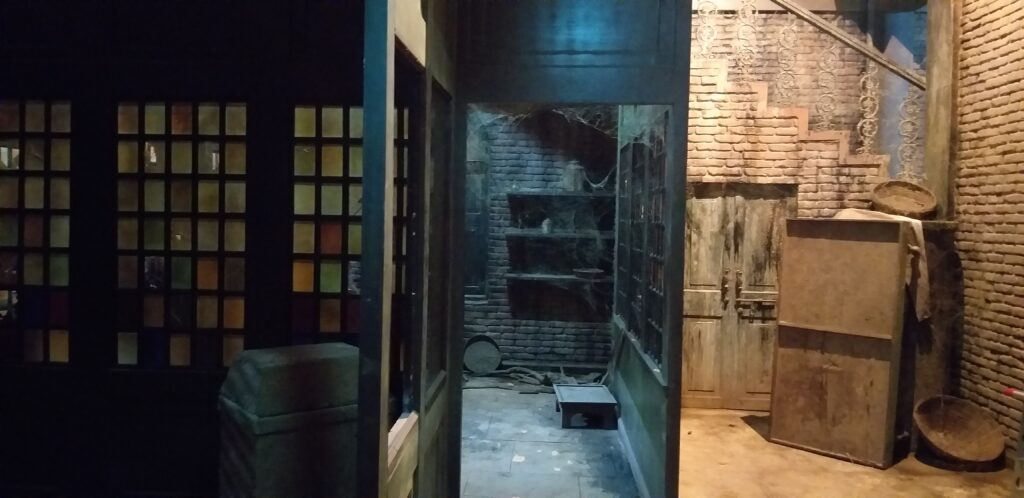 Lahore house in the movie Sardar Ka Grandson   The brick walls, windows and doors are recurring elements on this set, and bring out the set beautifully