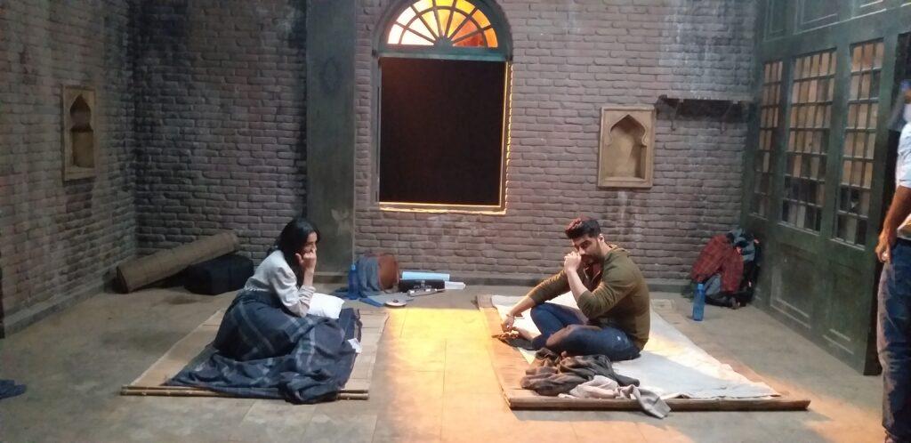 Lahore house in the movie Sardar Ka Grandson   Arjun Kapoor and Nakul Preeth Singh on the set