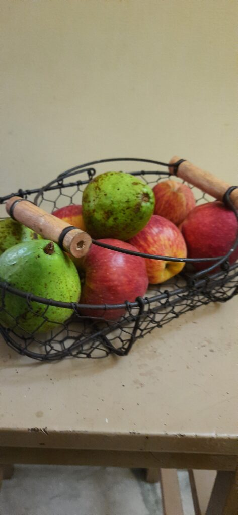 Fall Decor in India - Autumn Season | The beautiful vintage basket made up of iron and metal wire for storage