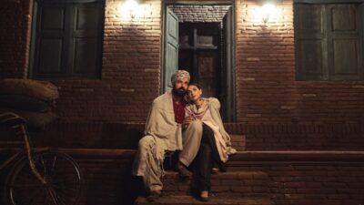 John Abraham and Aditi Rao Hydari at the front door of Lahore house