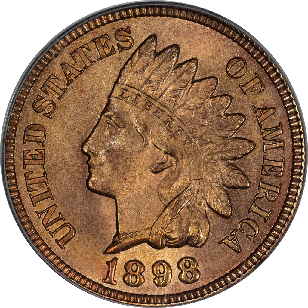 1898 Indian Head Cent Obverse
