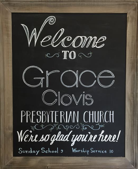 Grace Clovis Welcome Sign