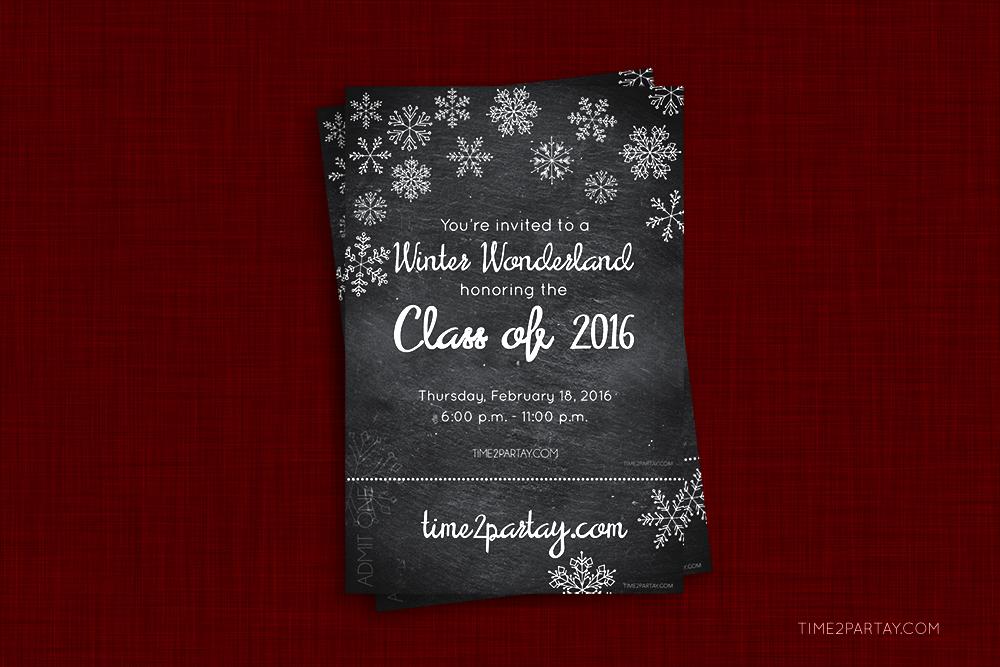 time2partay.com: Winter Wonderland Graduation Party