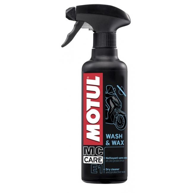 Wash & Wax é um limpador a seco para sua moto. Limpa, abrilhanta e protege todas as partes plásticas e pintadas sem necessidade de utilizar água: carenagens, pneus, quadros, aros etc. graças à sua fórmula exclusiva.
