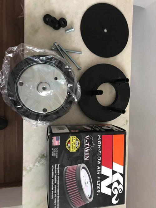 Kit de filtro de ar redondo de alta performance para Milwaukee Eight com elemento K&N