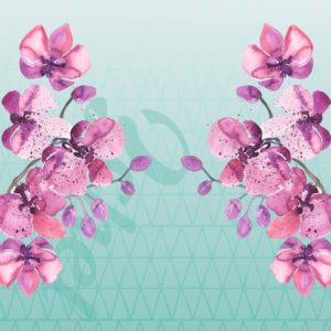 orchid burst dress design