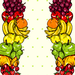 fruit dress design