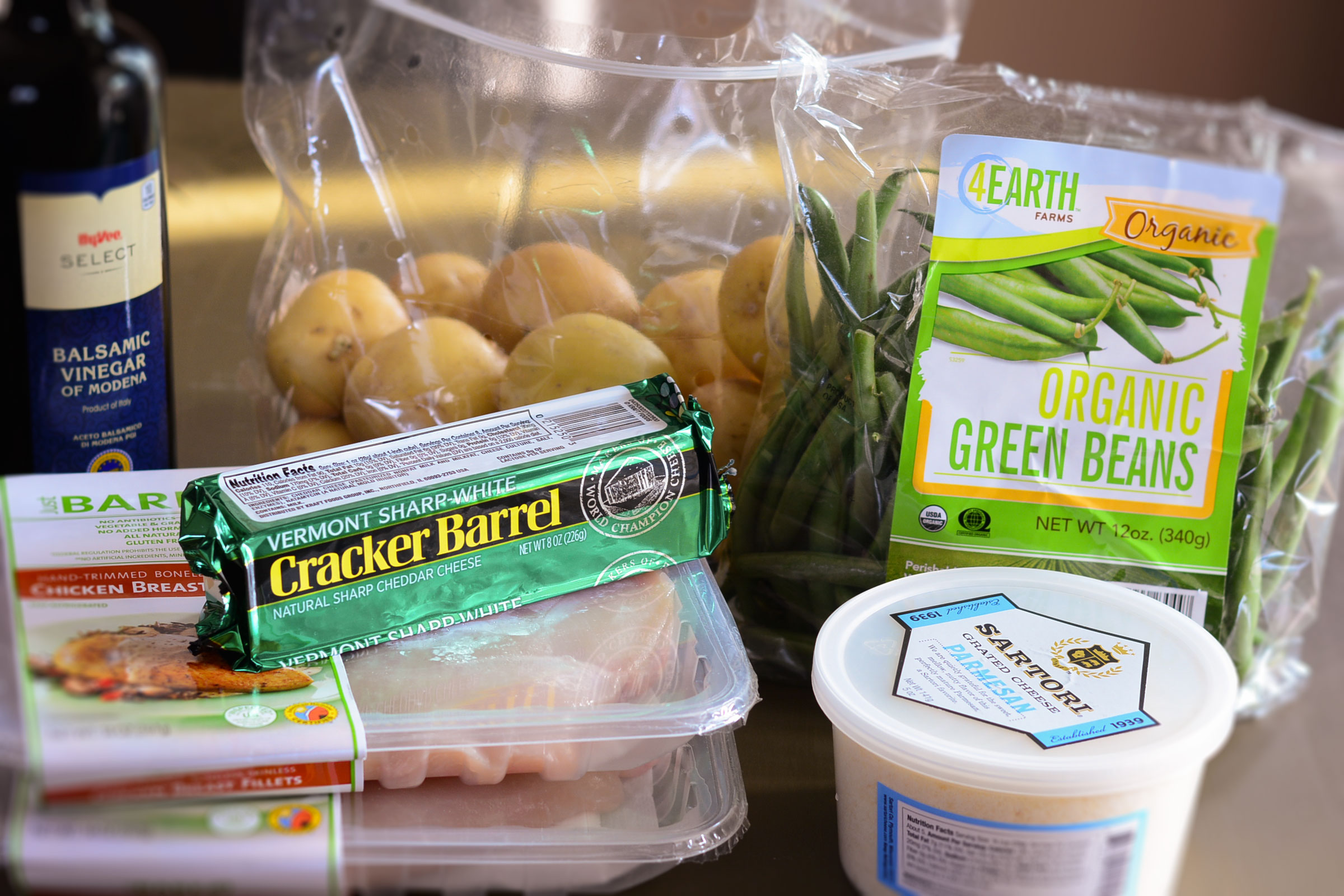 ingredients-for-Charred-Green-beans-+balsamic-chicken