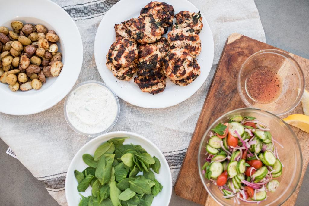greek chicken burgers-- firstandfull.com