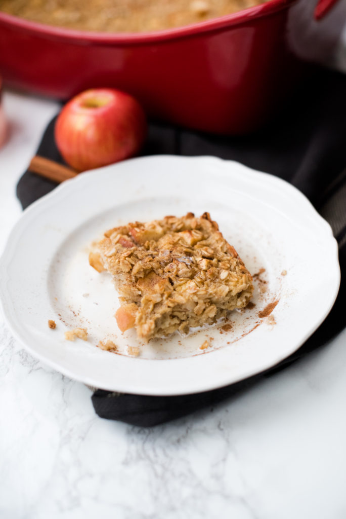 This baked apple cinnamon oatmeal is remake of the beloved quick packets. Make a pan of this at the beginning of a busy week and enjoy!