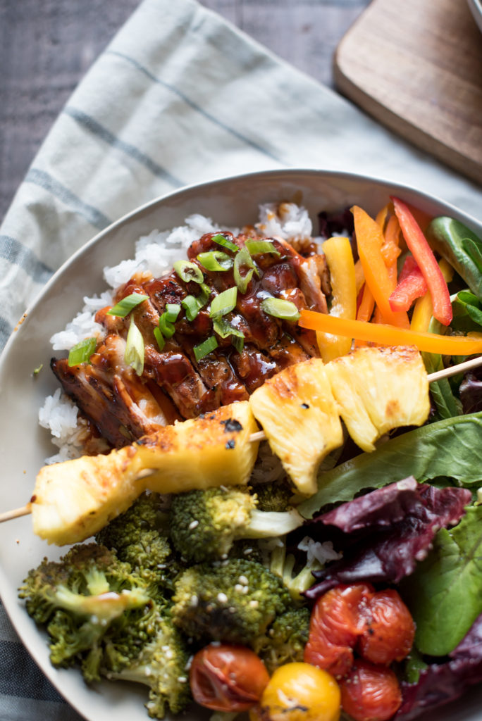 An easy Hawaiian pineapple citrus chicken marinade: use on chicken breast, chicken thighs, or even chicken wings. Easy, Flavorful, multipurpose marinade! from Firstandfull.com