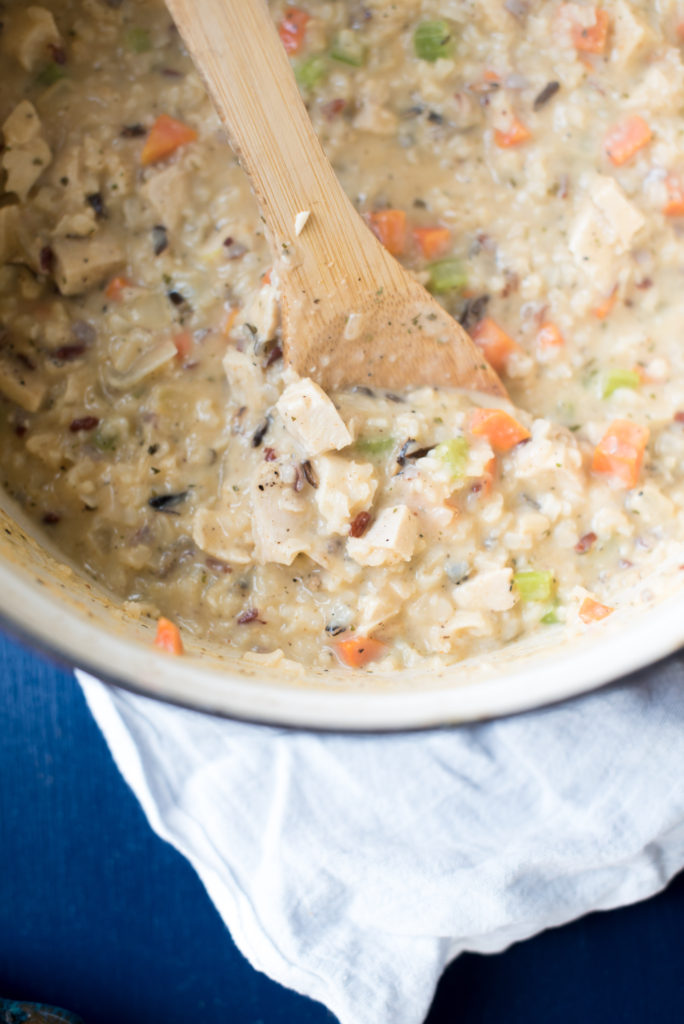 Creamy Chicken and Wild Rice Soup recipe reminiscent of your favorite soup from Panera Bread. Delicious, Hearty, Bowl of Soup in less than 45 minutes!