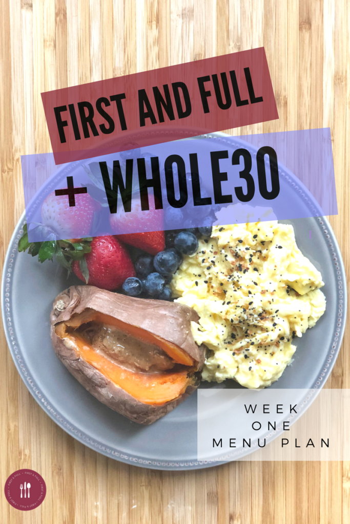 Here is an EASY, family- friendly Whole30 Week 1 Menu Plan. These recipes are quick +delicious while still following all the recipes of the Whole30 Program!