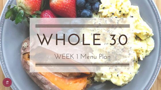 Whole30 Week 1 Menu Plan