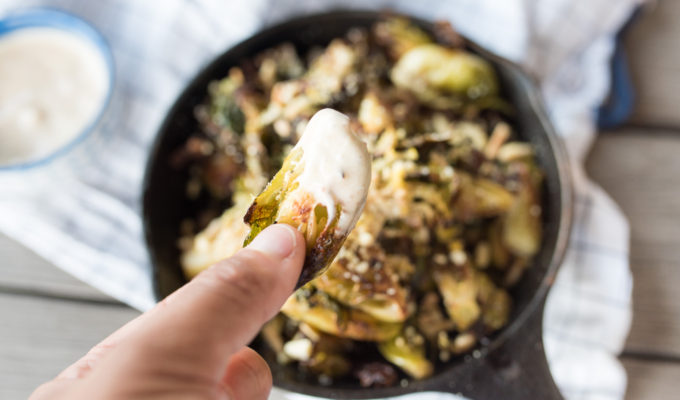 "Oven ""Fried"" Brussel Sprouts"