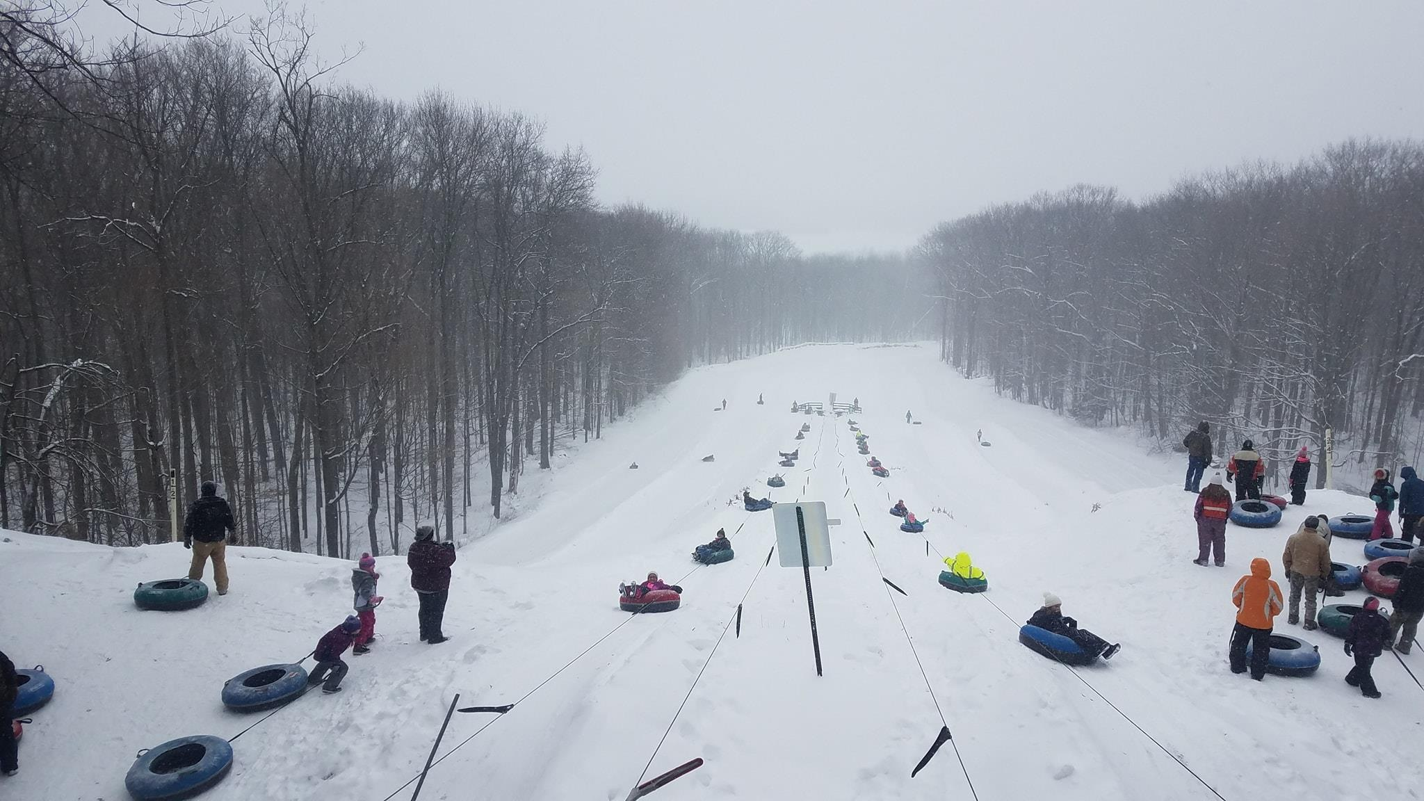 You'll find winter fun for the whole family in central Wisconsin at Powers Bluff, near Marshfield.