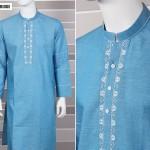 Eid Kurta Plain Designs For Men By Cambridge 2015 9
