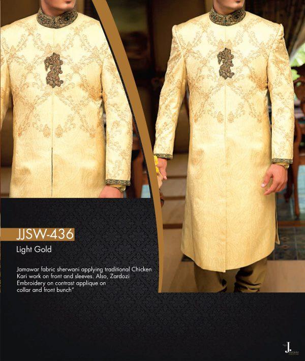 Jamawar Sherwani Designs For Groom By Junaid Jamshed 2015