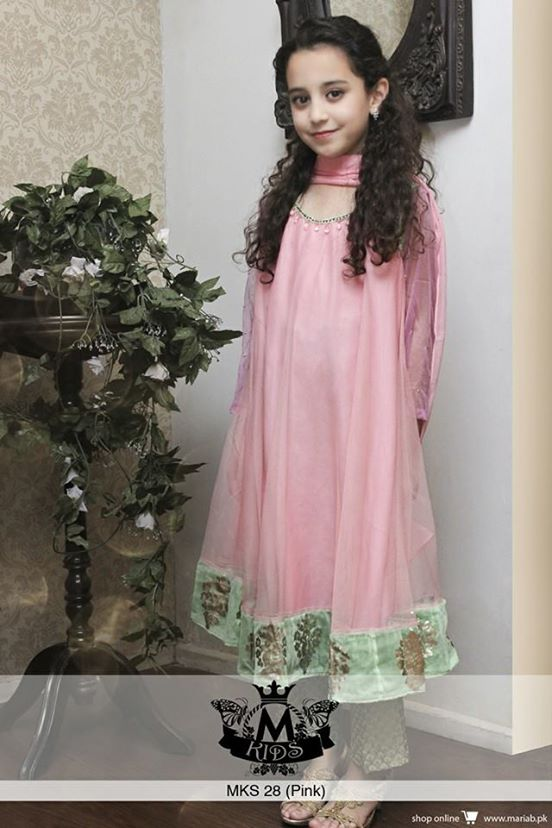 22376bd9e77c ... of designer garb as Maria B's beautiful collection of eid ul azha kids  wear is now completely provided for the small Barbie princesses of Pakistan.