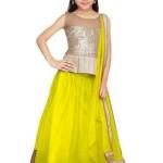 Eid Ul Azha Lehenga Dress For Little Girls 2015-16