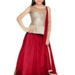 Eid Ul Azha Lehenga Dress For Little Girls 2015-16 4