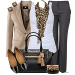 winter polyvore for working lady