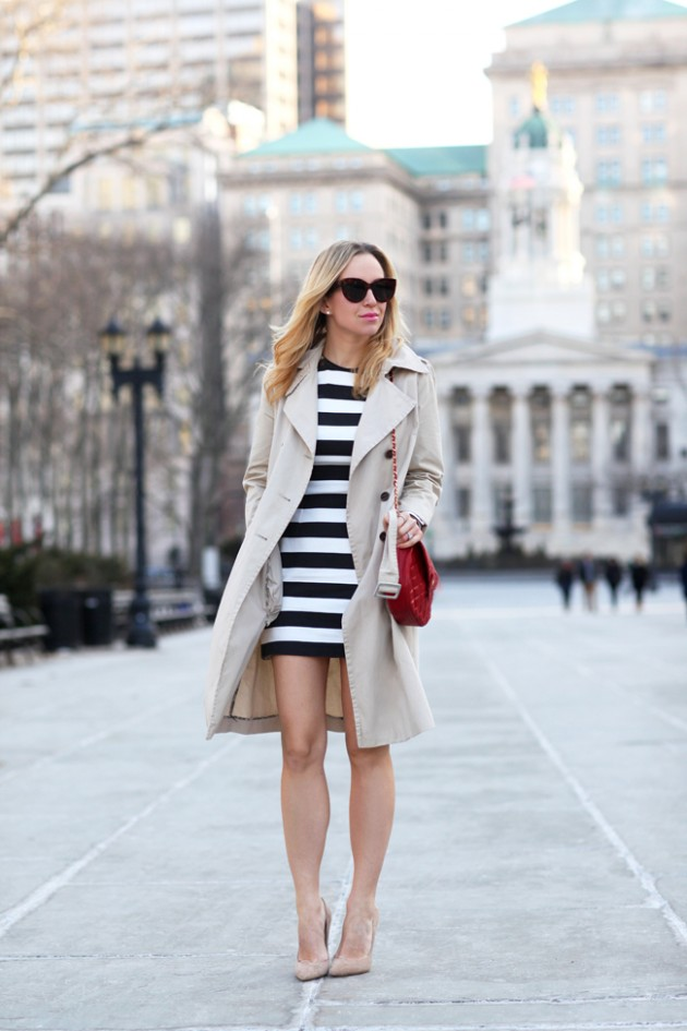 miniskirt with trench coat