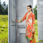 Two Piece Embroidered Polyester Kameez By Khaadi 2015 1