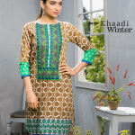 Two Piece Embroidered Polyester Kameez By Khaadi 2015 11