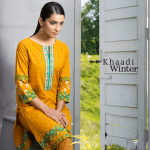 Two Piece Embroidered Polyester Kameez By Khaadi 2015 14