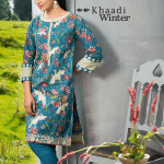 Two Piece Embroidered Polyester Kameez By Khaadi 2015 4