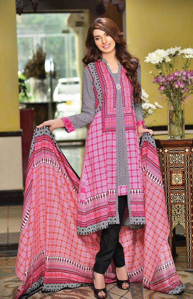 Embroidered Linen Subhata Collection By Shariq Textiles 2016
