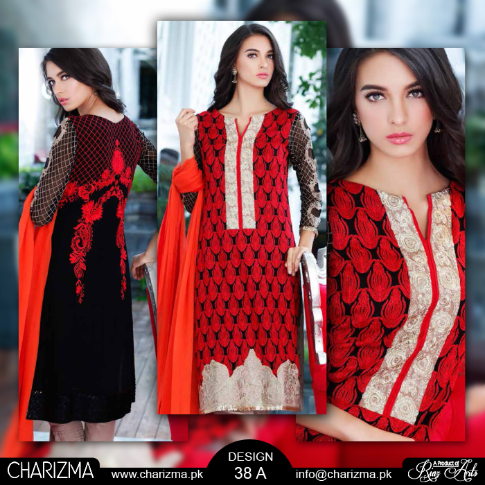 red party wear shalwar suit