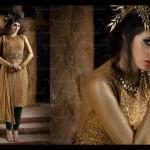Golden pret dress