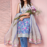 Khaadi Lawn 3 Piece Venetian Laces Summer Collection 2016 6