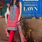 Three Piece Embroidered Lawn Gul Ahmed Collection 2016