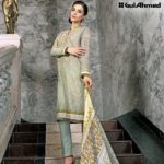 Three Piece Embroidered Lawn Gul Ahmed Collection 2016 6