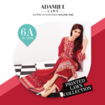 Adam Jee Casual Printed Lawn Shalwar Kameez Collection 2017