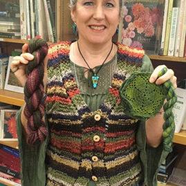 Sophia Brantley's knitted vest and handspun wool