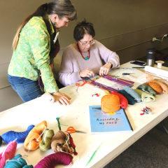 Tapestry workshop - Sophia with Kathe