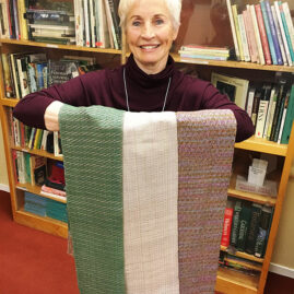 Judy's scarves with rayon warp and varied wefts