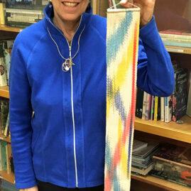 Sheila's painted warp